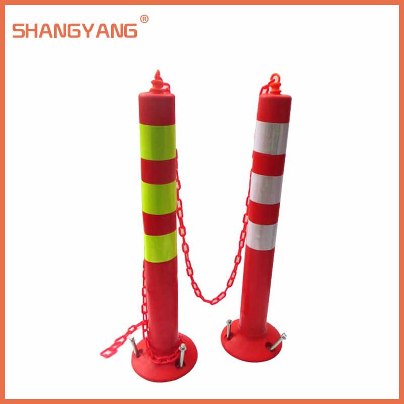 750*80MM Orange Road Inducing Pillar Plastic Reflective Barrier Column Crossing Warning Column Traffic Facilities CC-PE02(China (Mainland))