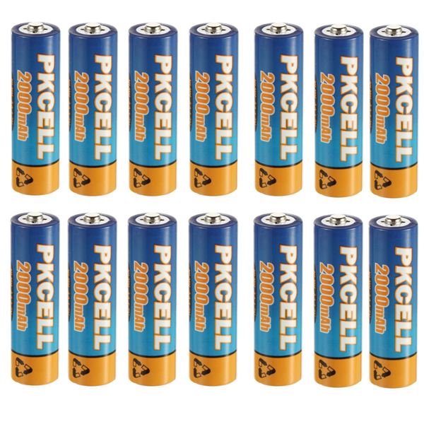 Аккумулятор 16 /PKCELL ni/mh 1.2V AA 2000mAh AA Rechargeable Battery аккумулятор metabo 12v 3 0ah ni mh bsz12 bs12sp 6 0215 501