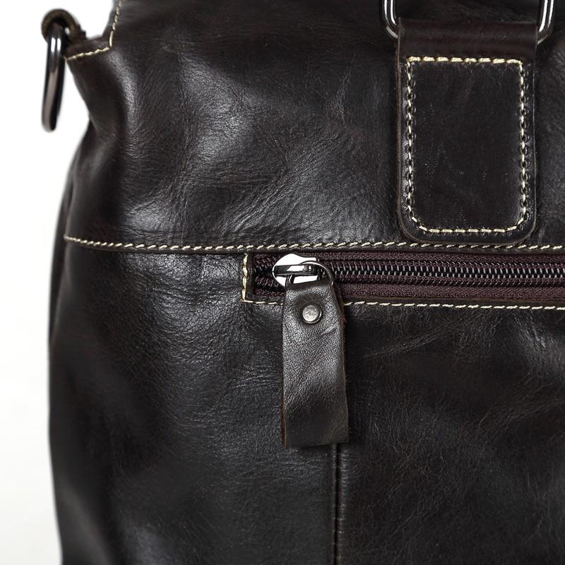 ซื้อ กาแฟเข้มวินเทจCowhideจริงแท้ผู้ชายของMessengerกระเป๋ากระเป๋าเอกสารผลงานธุรกิจกระเป๋า# M260