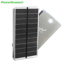 Buy PowerGreen Solar Power Bank 10000mAh Flashlight Design Solar Charger Mobile Phone Battery Backup Solar Panel Dual Output for $27.02 in AliExpress store