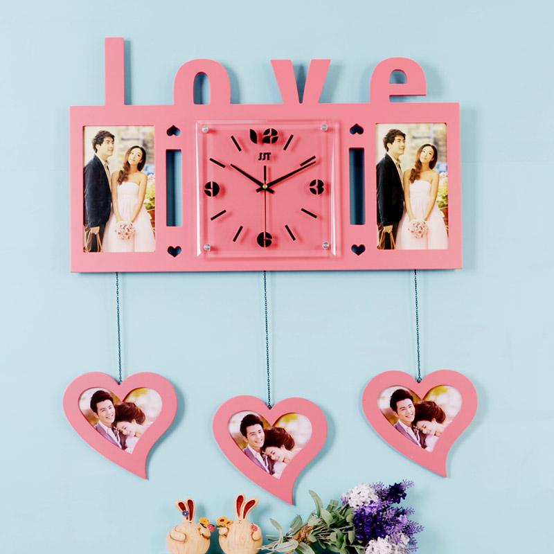 home decoration wall clock romantic wall clock table clock fashion personality modern mute clock and watch(China (Mainland))