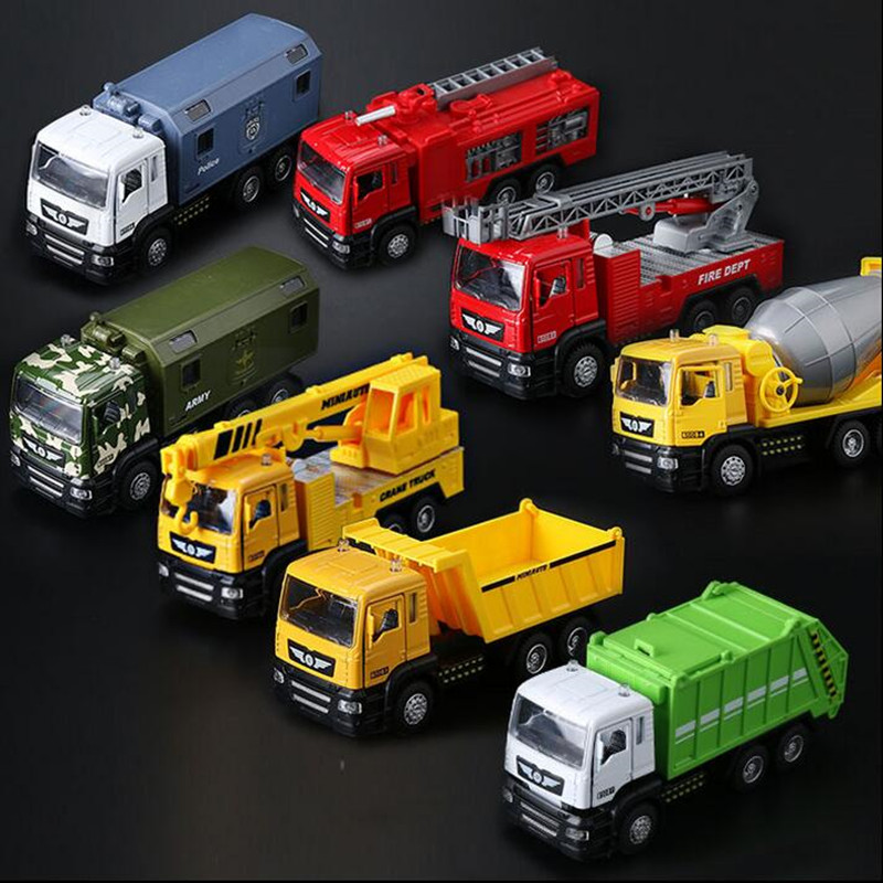 Classic Children's toy car alloy Sound and light Engineering vehicles rubbish truck Tipper truck mixer hot sale(China (Mainland))