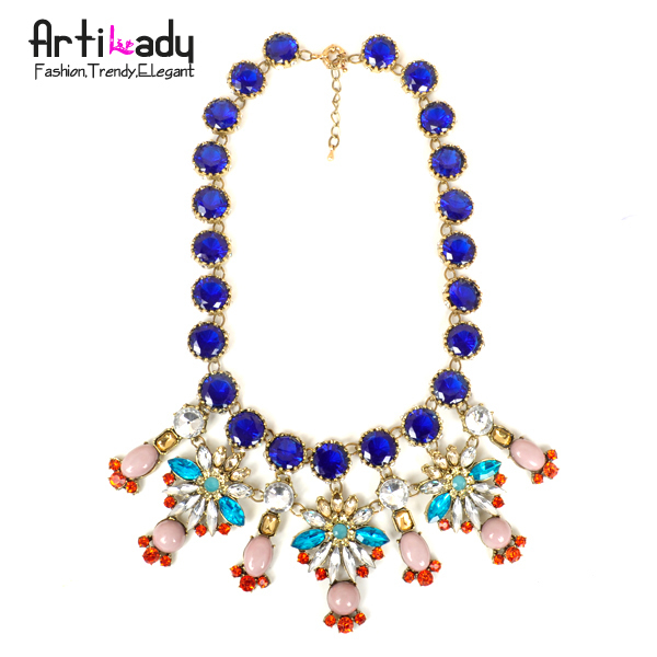 Arilady 2015 fashion flower statement necklace choker  necklace NR