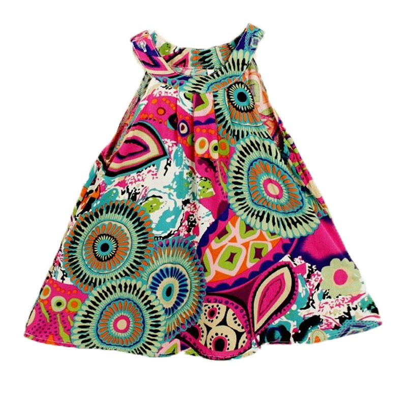 2 To 8 Years Baby Girl  Summer Style Cotton Casual Flral Print Party Dress Kid Clothes 18 Patten Girl Clothing Vestidos Infantis(China (Mainland))