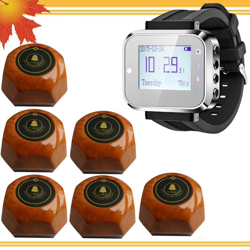 Wireless nurse call system 1 watch service cad 6 nurse call buzzers free shipping free(China (Mainland))