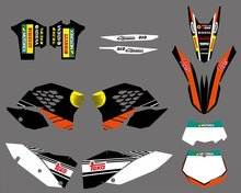 0276 NEW TEAM GRAPHICS WITH MATCHING BACKGROUNDS FIT FOR KTM SX XC XC-W EXC Series 2008 2009 2010 2011 - Cnc Motocross Graphics Parts store