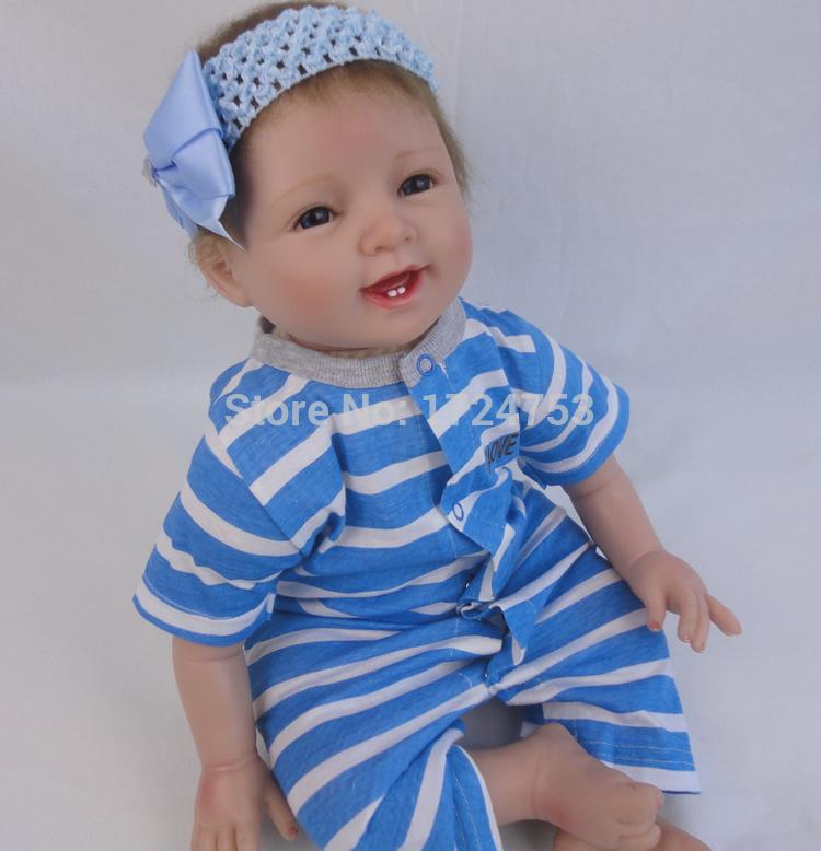 New design 22 inch Reborn baby dolls 50cm silicone reborn baby dolls baby vinyl handmade lifelike baby doll lovely body toys