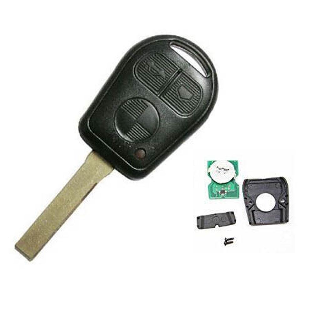 3 Button Remote Key Shell Case Fob for BMW 3 5 7 X5 X3 Z4 E38 E39 E46 433MHz ID44 Chip HU92 Blade(China (Mainland))
