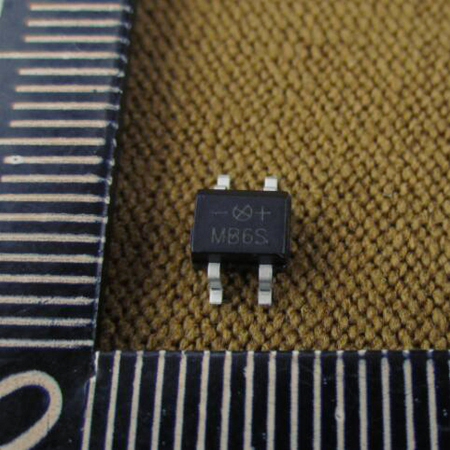20pcs SMD MB6S 0.5A 600V Single Phases Diode Rectifier Bridge SOP-4 A010(China (Mainland))