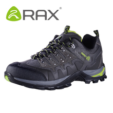 Rax Genuine leather outdoor hiking shoes men & women autumn shock absorption breathable walking climbing outdoor trekking shoes(China (Mainland))