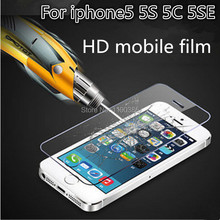 Mobile phone HD protective film Scratch Proof Screen Protectors For Apple iphone 5 5C 5S 5SE Thickness 0.3mm Hardness 9H