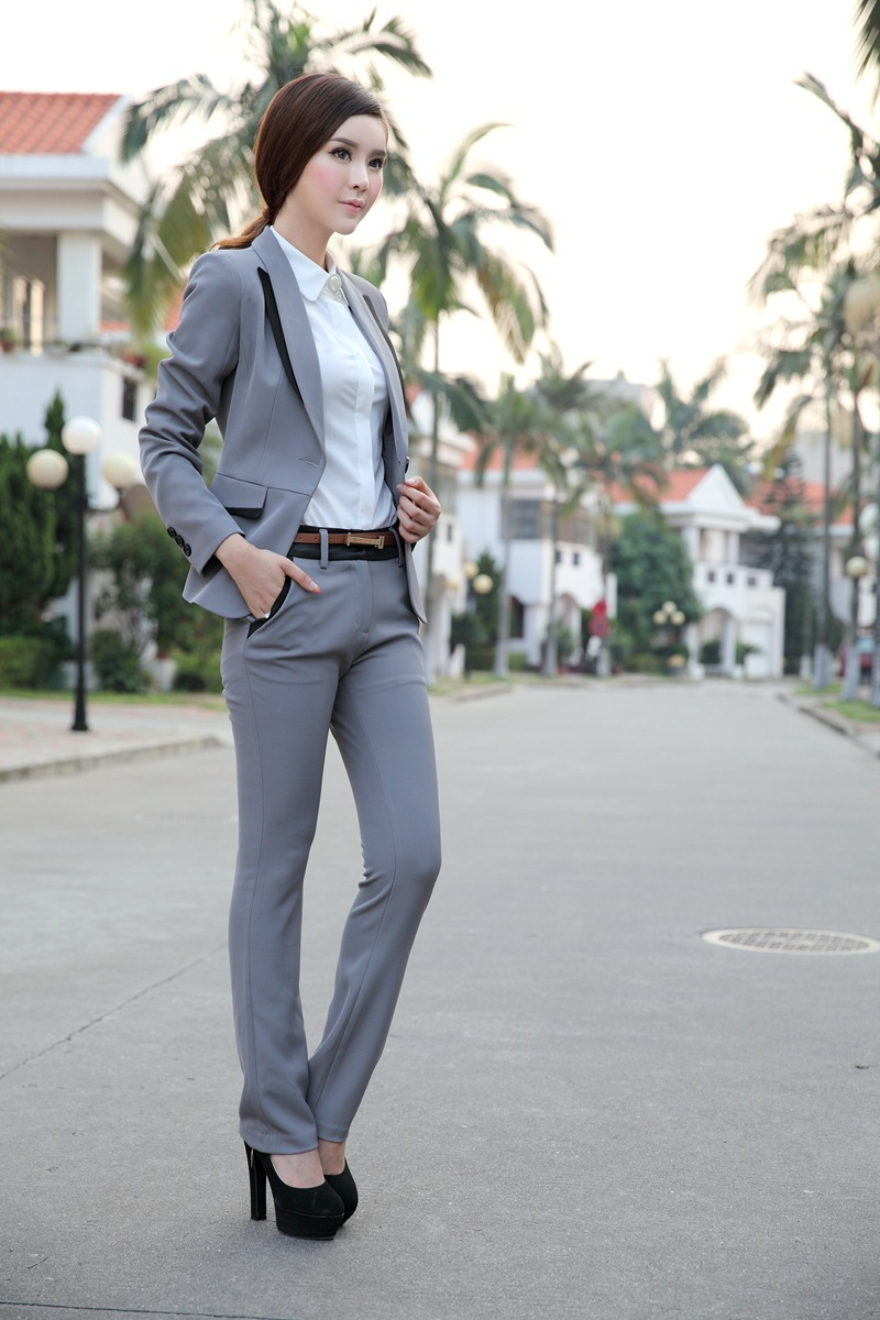 Brilliant Women39s Apparel Gracious Grey Sleek Suiting Suit Collections  Banana