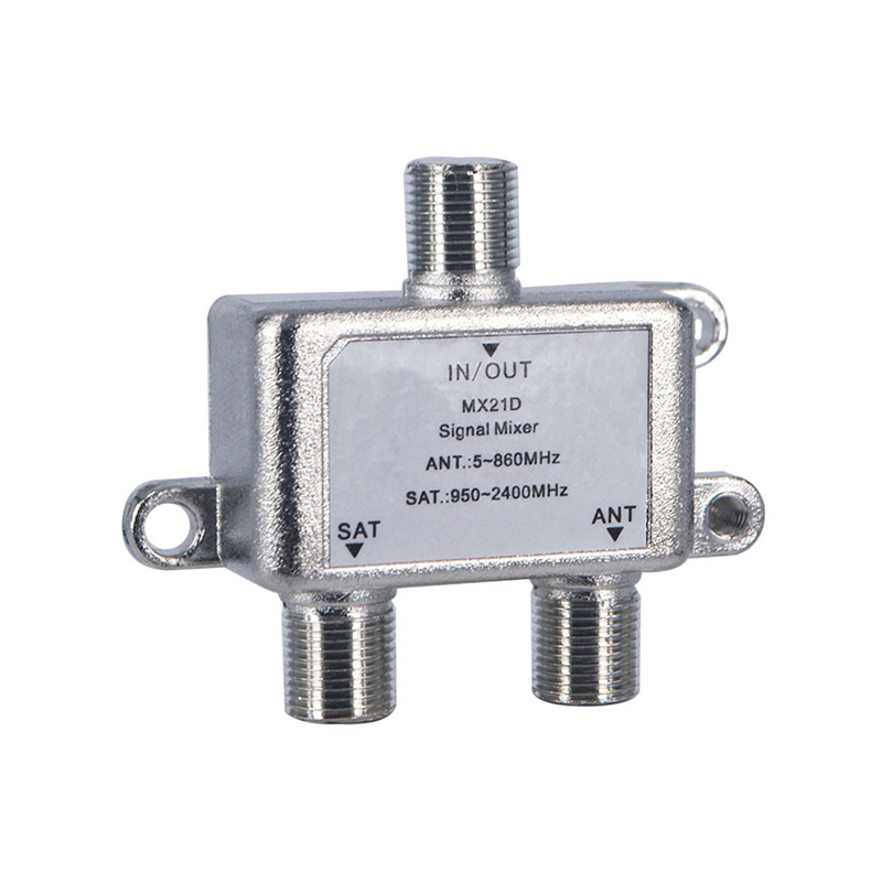 High Quality 2 In 1 Dual-use 2 Way Diplexer TV Signal Mixer Satellite Sat Coaxial Combiner Cable Splitter Switch Switcher(China (Mainland))