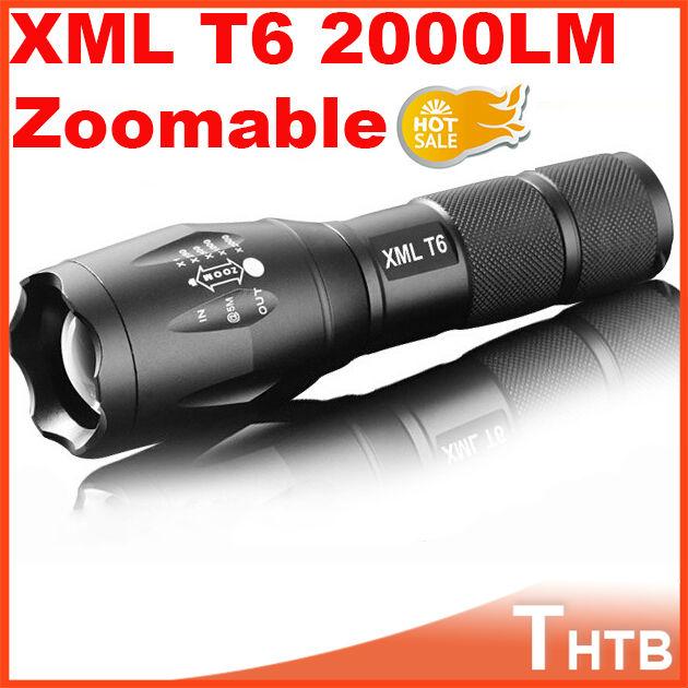 UltraFire portable tactical lanterna waterproof CREE UltraFire E17 CREE XM-L T6 2000 Lumens Zoomable LED Flashlight Torch light(China (Mainland))
