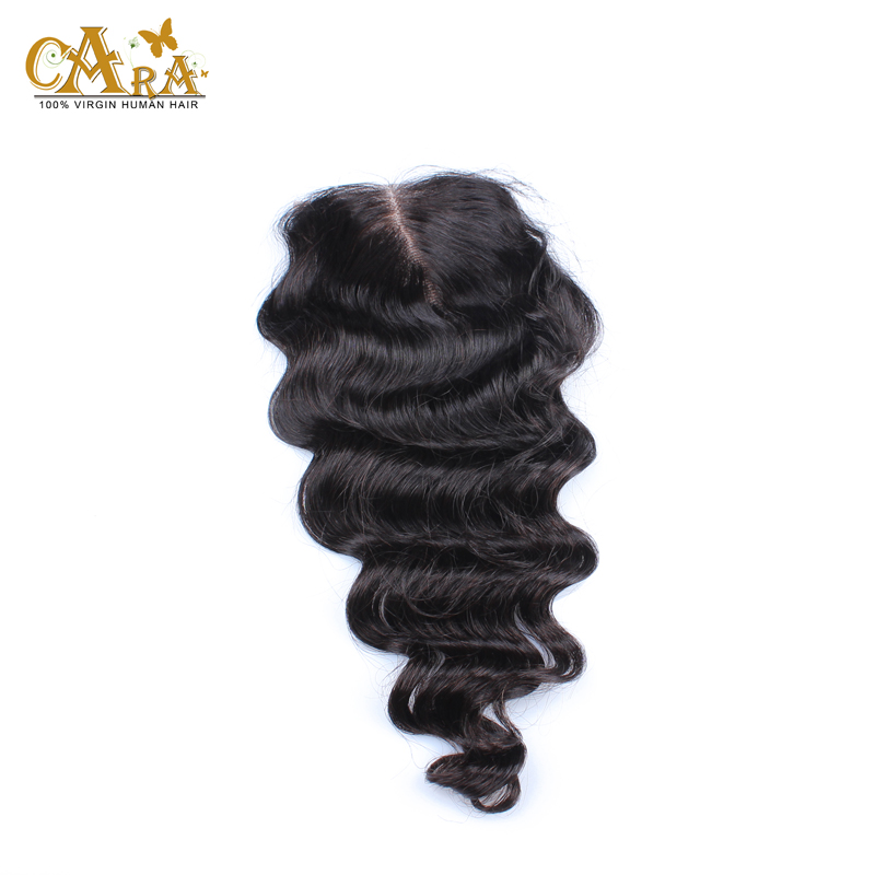 6A Grade Cheap Brazilian Lace Closure Bleached knots Virgin Human Hair Closure 3.5x4 Loose Wave Lace Closure With Baby Hair<br><br>Aliexpress