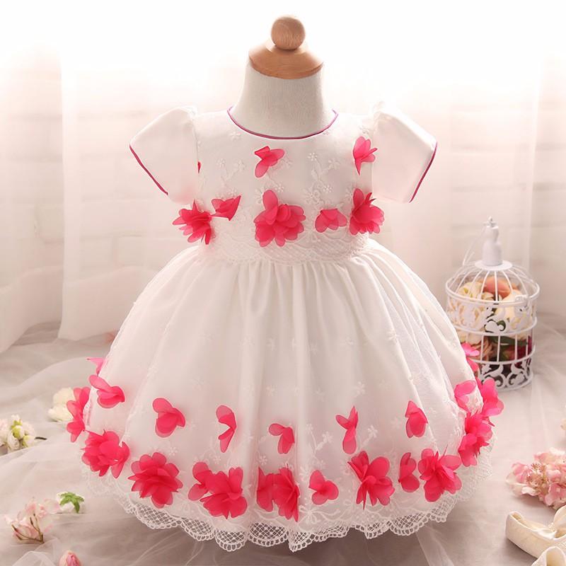 Baby Girls Dress 2016 New Fashion Kids Princess Birthday Party Tulle Wedding Dresses Christmas Dress Newborn Infant Clothes 0-2Y-2