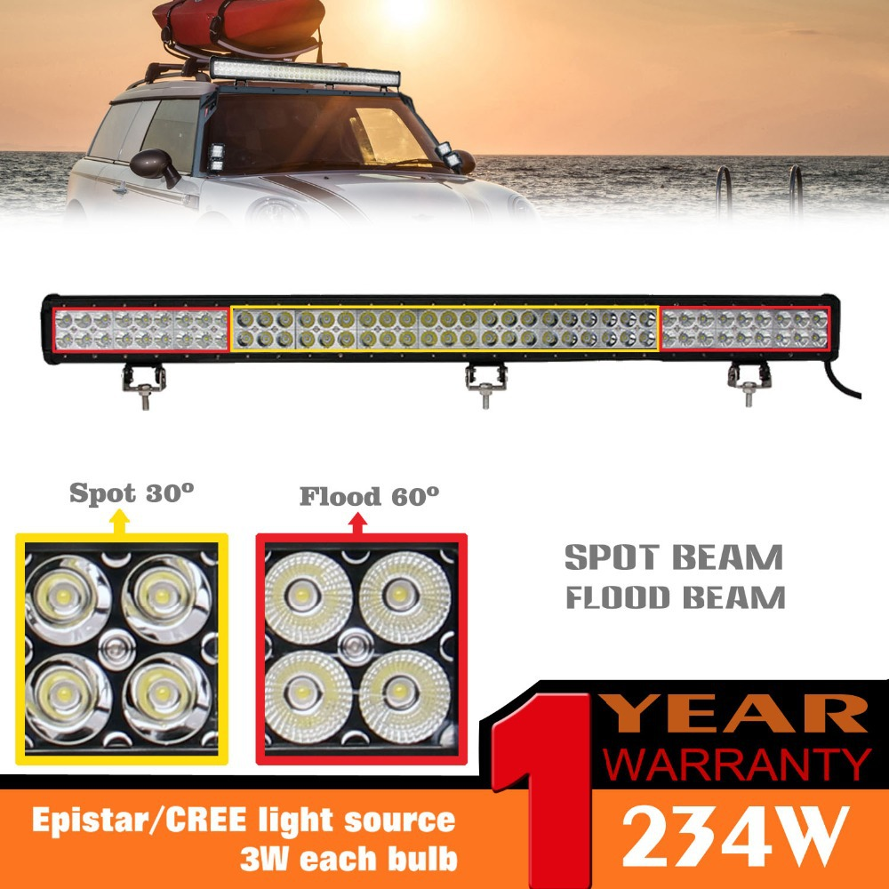 Led Light Bar 36234w 15600lm Spot Flood Combo Lamp for Pickup Jeep ATV Truck Boat SUV Bar Lights Waterproof  Dual Rows<br><br>Aliexpress