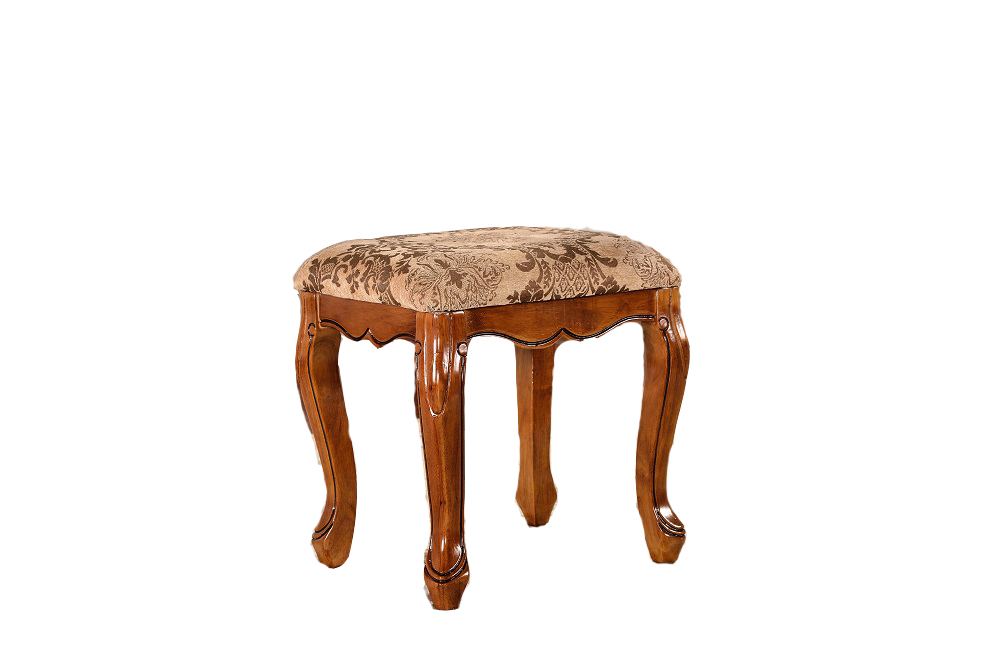Classical European Style Wooden Stool Vanity Table Luxury Furniture Bedroom Antique Mirrored Furniture 106 brown(China (Mainland))