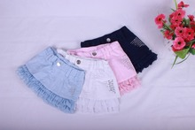 2015 summer New children's clothing baby girl skirts lace design cute fashion elegant skirt girls Baby lace bright drill skirts (China (Mainland))