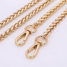 Replacement 8mm Metal Chain Shoulder Bag Handbag Strap Cross Body Gold 60-140cm 045-214(China (Mainland))