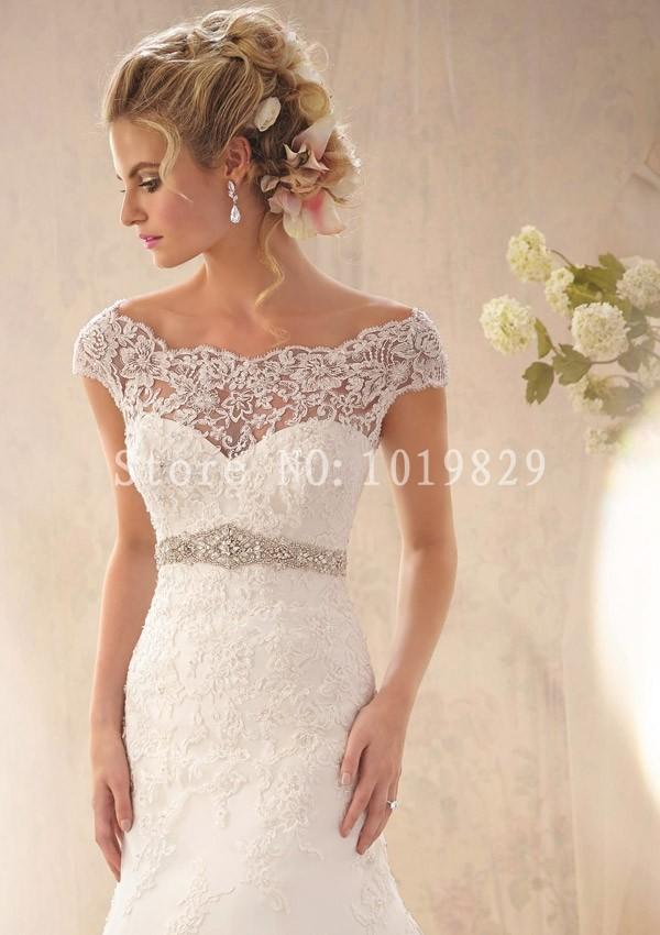 Свадебные платья в пол фото