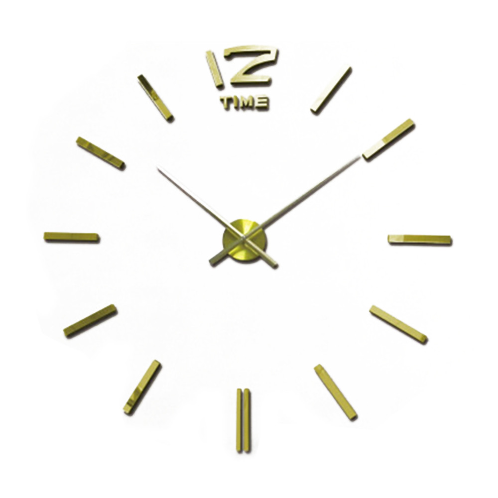 Hot Selling 3D DIY Large Wall Clock Modern Design Saat Wall Clock Stickers Watch Acrylic Clock Horloge Murale Ikea Home Decor(China (Mainland))
