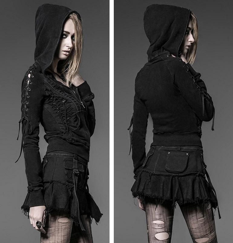 Здесь можно купить  2015 New Punk Kera Hoodie Jacket Black Cotton Pirate Gothic Vampire Coat S-XXL  Одежда и аксессуары