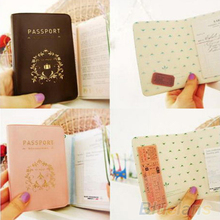 Travel Utility Simple Passport ID Card Cover Holder Case Protector Skin PVC 01WE