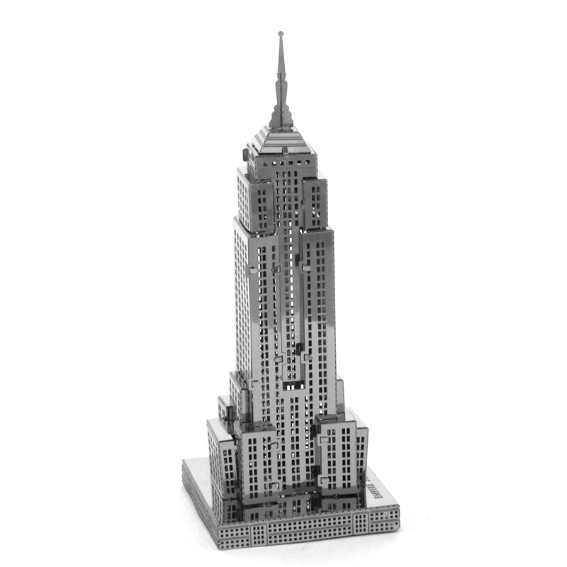 The Empire State Building 3D Metal Jigsaw Puzzle For Children Educational Toys Creative Gift Building Puzzle Kids Toys For Boy(China (Mainland))