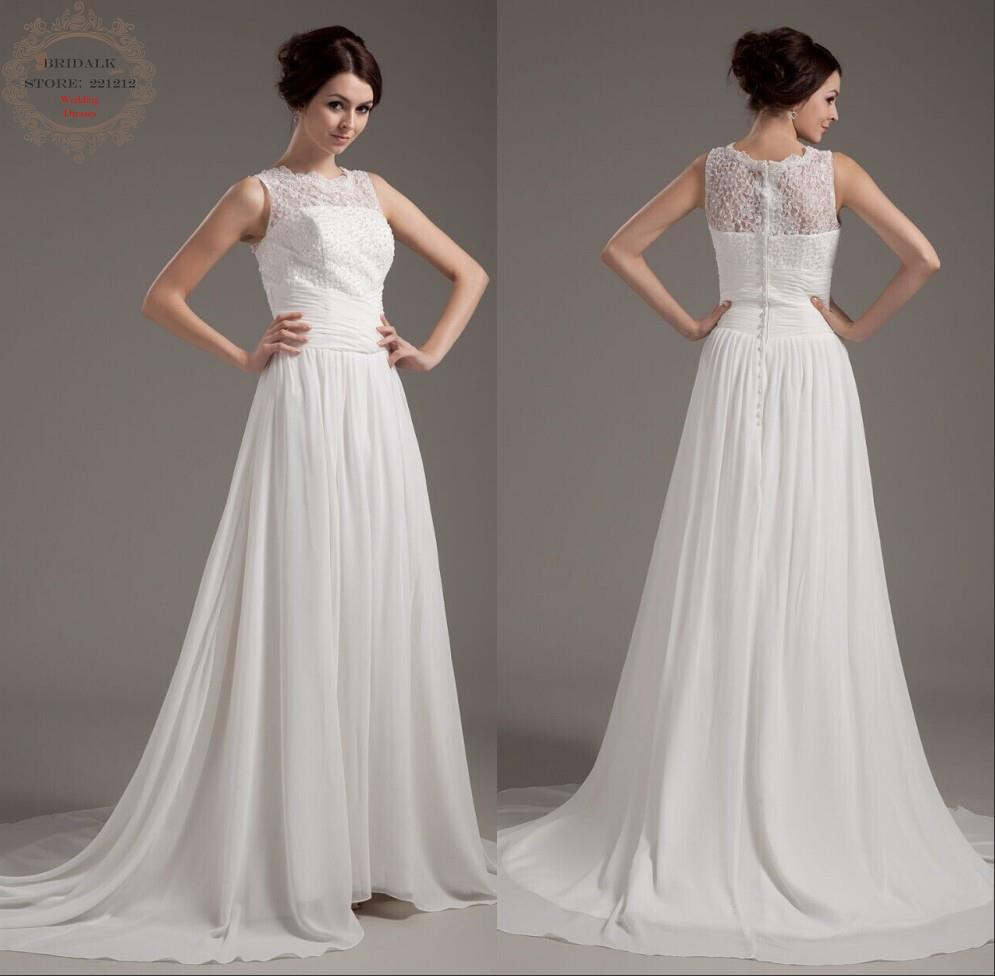 Short wedding dress new comings a line high neck for New look wedding dresses