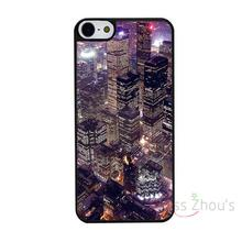 For iphone 4/4s 5/5s 5c SE 6/6s 7 plus ipod touch 4/5/6 back skins mobile cellphone cases cover City At Night Lights Custom