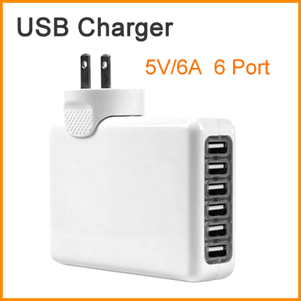 A18 5V/6A 6 Port USB Charger Universal USB Wall Charger AC Mobile Phone Charger For Home Travel With US UK EU AU Plug Optional(China (Mainland))