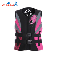 DIVESAIL Professional Adult lifejacket sponge,Womens  Life Vest Premium Neoprene with Diving fabric,(China (Mainland))