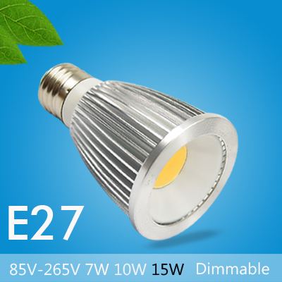 GU10 110V 220V 240V E27 MR16 DC 12V 7W 10W 15W Dimmable COB LED Spotlights of High Power Energy Saving Light Bulbs for Home Use(China (Mainland))