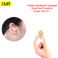 Super Mini Headset Earphone Wireless Bluetooth Hidden Headphone with Noise Cancelling MIC for iPhone Samsung and