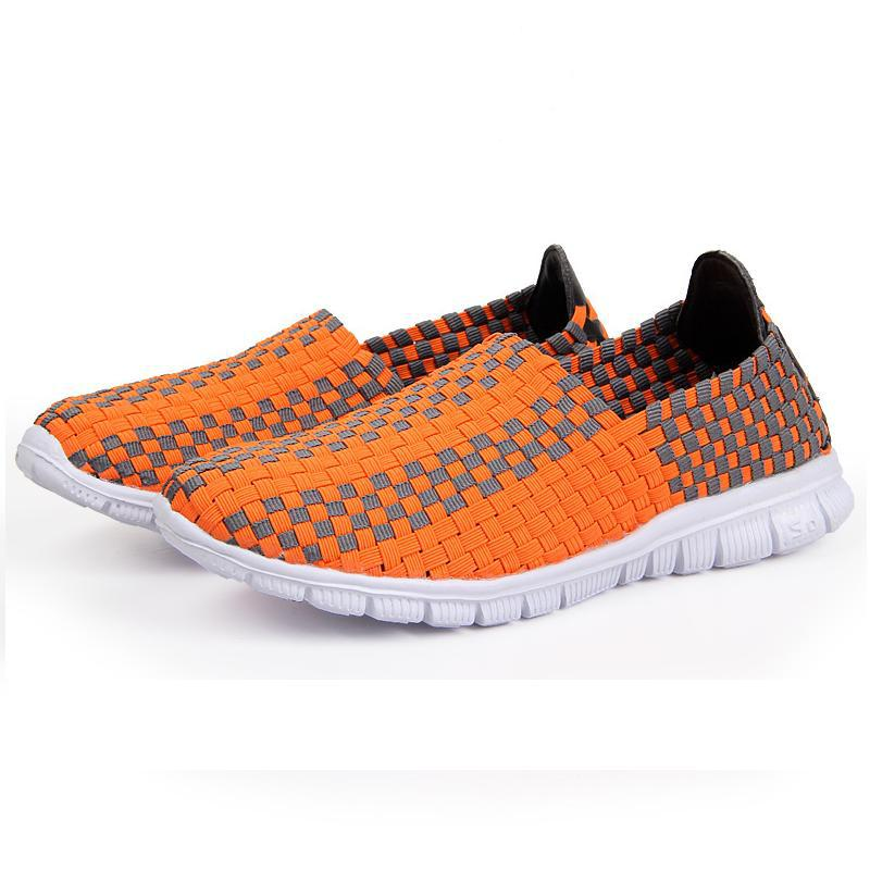 Colorful Design sneakers women Flat Shoes Casual Sneakers Size 35-40 Summer New Slip-on Women Knit Mesh Footwear(China (Mainland))