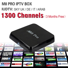 Octa Core Rockchip RK3368 M8 Pro Android 5.1 IPTV Box& 3 Months Arabic French UK Africa Europe IPTV Account Code 1300+ Channels