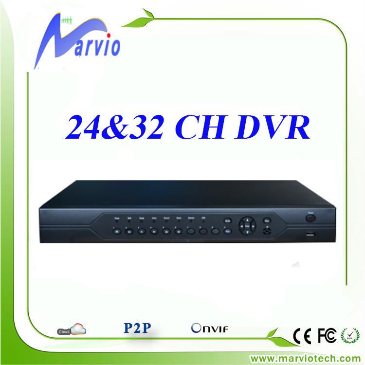 24ch 32ch 24, 32 channel dvr with computer watch and free CMS remote phone view P2P digital video recorder, fast delivery(China (Mainland))