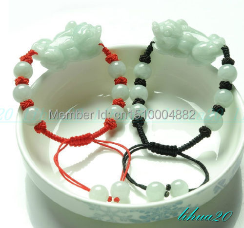 shitou 00242 Natural Hand-carved Brave troops emerald jade QILIN lovers mens women bracelet<br><br>Aliexpress