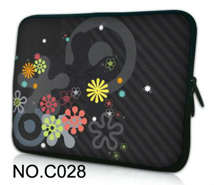 "Classics flowers 12"" Neoprene Laptop Sleeve Bag Soft Case Cover For Apple iBOOK,Macbook Air(China (Mainland))"