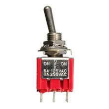 3PDT ON/OFF/ON 9Pin Mini Toggle Switch 6A 125VAC/2A 250VAC Electric Guitar Circuit Selector Switch Popular(China (Mainland))