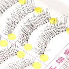 10 Pairs Makeup Handmade Natural Fashion False Eyelashes Soft Long Eye Lash Cosmetic Free shipping(China (Mainland))