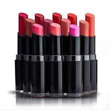1pcs hot sell famous brand long lasting beauty red lipsticks professional makeup waterproof lipstick cosmetic batom