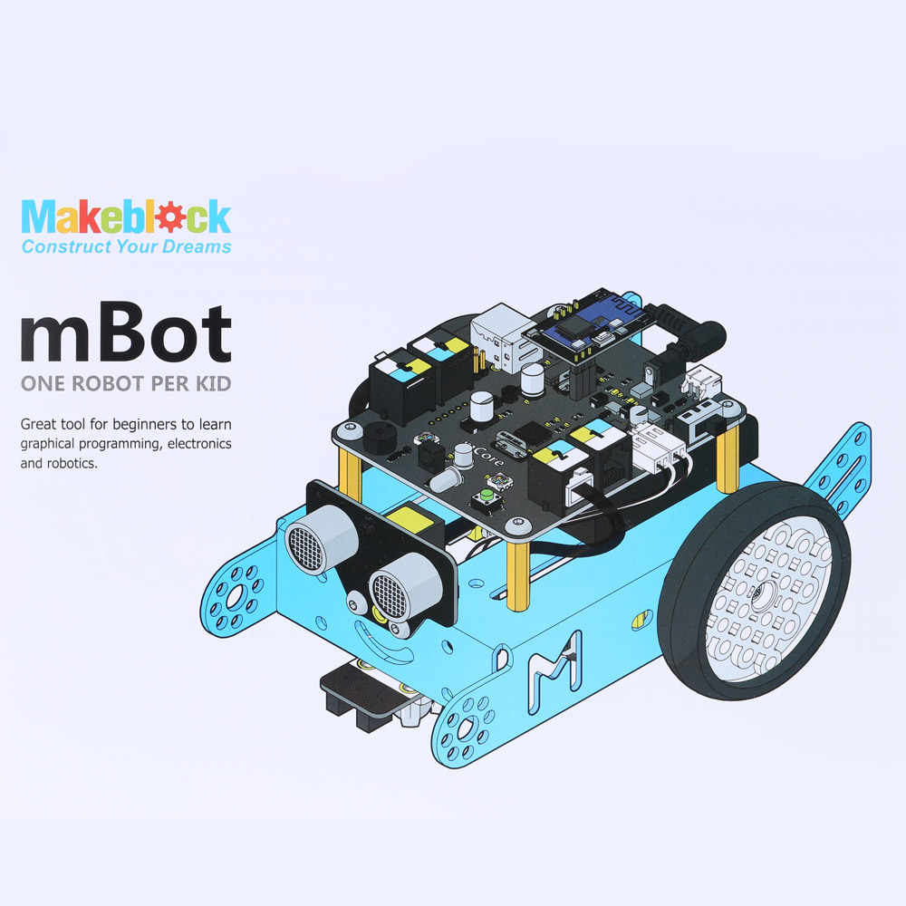 Awesome Starter Kit mBot Educational Robot Kit for Kids and Beginners -Blue (Bluetooth Version) Fun Easy-to-run Robot Kit(China (Mainland))