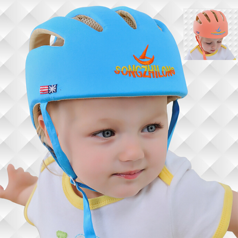 Infant Baby Toddler Safety Helmet Kids Head Protection Hat for Walking, Crawling(China (Mainland))