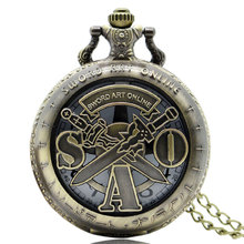 Buy Cindiry Animation Sword Pattern Fob Pocket Watch Necklace Long High Men Women Watches Chain Gift P30 for $2.66 in AliExpress store
