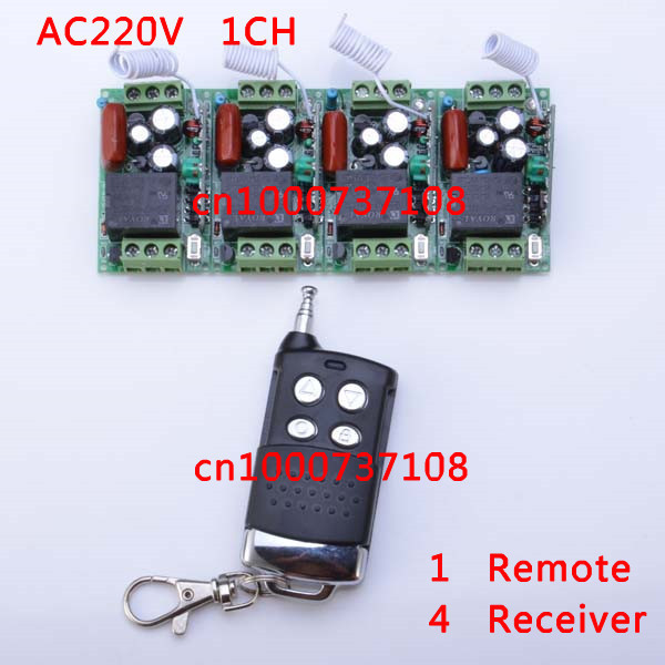AC 220V 10A RF rf switch 220v wireless small size radio control light and remote control switch sockets(China (Mainland))