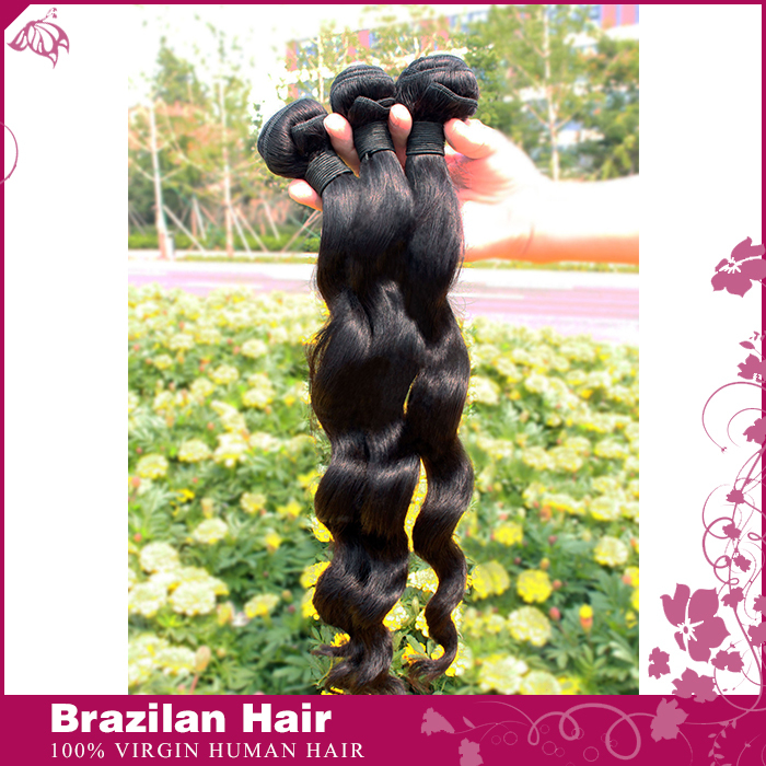 Remy Queen Indian Wavy Hair 3Pcs/lot Bundles Human Hair Natural Black Weaves Unprocessed Indian Virgin Hair Body Wave Rosa Hair(China (Mainland))