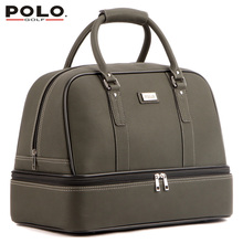 New Brand POLO Golf Double Clothing Shoes Package Travel Bag Bolsas Zapatos Golf PU Waterproof Golf Shoes Bag Cover Uomini 2016(China (Mainland))