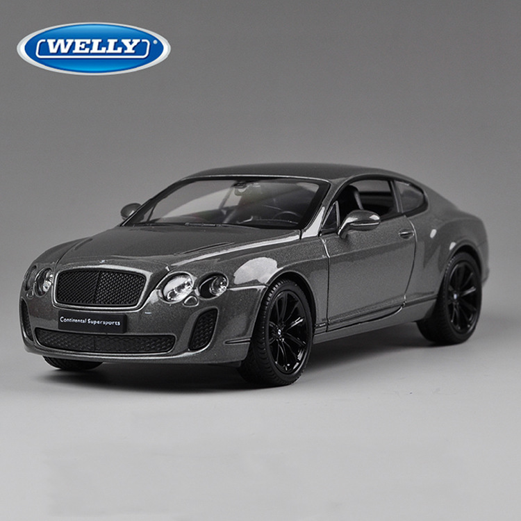 Free Shipping Large Scale Simulation Alloy Car Wiley /FX 1:24 roadster cars Bentley continental GT alloy Diecast Model Car Toy(China (Mainland))